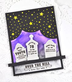 Over The Hill Card by Dawn McVey for Papertrey Ink (August 2015)