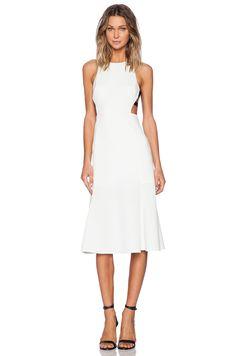 NBD NBD Split Sides Midi Dress in Ivory