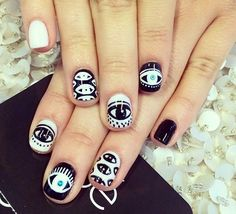 another evil eye nail design
