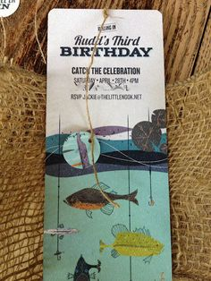 Vintage Fishing Birthday Party! I love the Invite