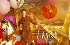 """Vogue UK April 2012, """"Fashion Circus"""""""