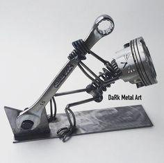 Metal art sculpture of an X-Wing style jet. Welding Art Projects, Metal Projects, Metal Crafts, Metal Sculpture Artists, Steel Sculpture, Abstract Sculpture, Bronze Sculpture, Metal Tree Wall Art, Scrap Metal Art