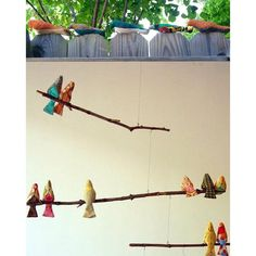 The ladies of Lesotho have begun making Spool Birds! The mobile is just one creative way to display these birds. 5 for $15