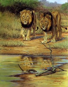 Lute Vink. One of the best wildlife artists in the world ...
