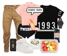 """.. 👌🏽"" by liamreece ❤ liked on Polyvore featuring G-Star, Stampd, Bellfield, HUF, Michael Kors, With Love From CA, Junk Food Clothing, iTouch, Christian Louboutin and NIKE"
