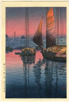 土屋光逸 Koitsu Tsuchiya『瀬戸内海 鞆之津』(1940)