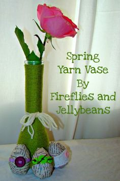 Teaching Thursday: Spring Yarn Vase By Fireflies and Jellybeans This a cute cool quick craft (Robin)