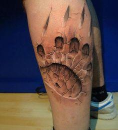 3D Claw Tattoo