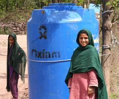 Oxfam Unwrapped; giving safe drinking water to someone in need