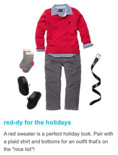 Carter's holiday 2013 toddler boy outfit