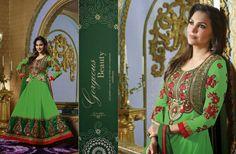 Designer Wonderful Lara Dutta Heavy Anarkali Suit For Coming Festivals