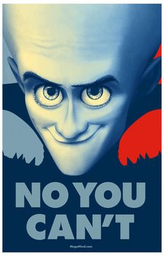 Megamind No You Can't Portrait Movie Poster 11x17
