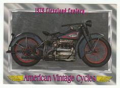 """American Vintage Cycles Series I # 67 1929 Cleveland """"Century"""" - Champ 1992"""
