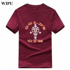 WIPU New Brand Golds Sporting Short Sleeve Fitness T-Shirt Bodybuilding fit Compression Shirt Men Gyms T Shirt Tops