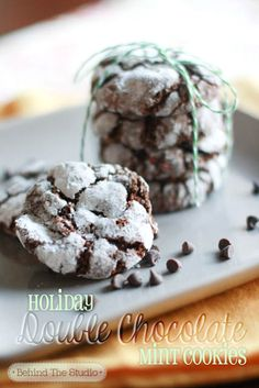 Easy Homemade Recipe: Double Chocolate Holiday Mint Cookies