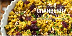 This Cranberry-Pecan Curry Rice is full of Fall flavors and soul-warming curry! Serve it for a weeknight dinner or on Thanksgiving!