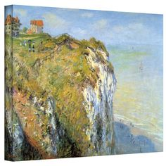 Claude Monet 'Cliffs' Gallery Wrapped Canvas | Overstock.com