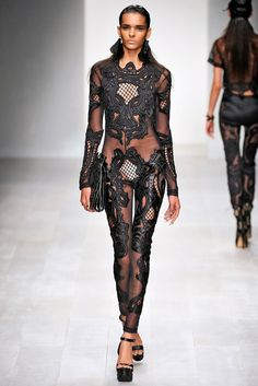 KTZ Embroidered Lace jumpsuit