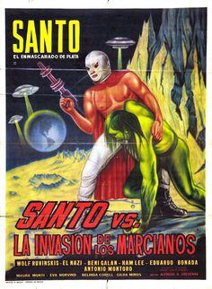 Santo contra la Invasión de los Marcianos Mexican film poster