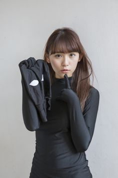 Idol Nana Asakawa is the Detective Conan 'Shadow Person' Gravure Model Mascot Costumes, Catsuit, Asian Beauty, Hooded Jacket, Idol, Tights, Cosplay, Actresses, Female