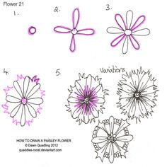 how to draw a flower - spring