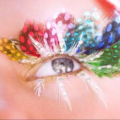 feather eyelashes?