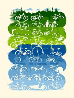 Bicycle Graphic Design: Archive