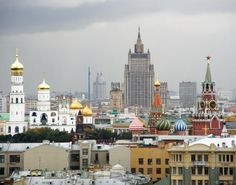 40 of the world's most impressive skylines - Matador Network. A very pretty city...Moscow, Russia.