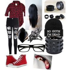 Marceline cosplay by shiro-theemoneko-walker on Polyvore featuring polyvore fashion style Abercrombie & Fitch Glamorous Converse Luca Carati Valentino NOVICA John Brevard