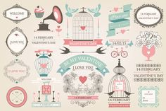 Check out Valentines day design elements by ievgeniia on Creative Market