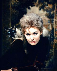 Kim Novak in a publicity picture for Bell Book and Candle (1958), photographed by Ralph Crane.
