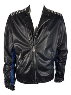 c2b6ac83 Online veilinghuis Catawiki: Dsquared - studded black leather biker jacket