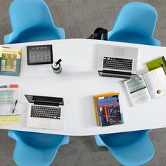Beautiful, flexible and has hooks for personal whiteboards.  Verb Team Table | Steelcase Store