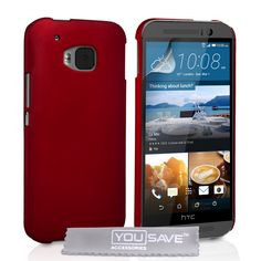 YouSave HTC M9 Hard Hybrid Case - Red | Mobile Madhouse