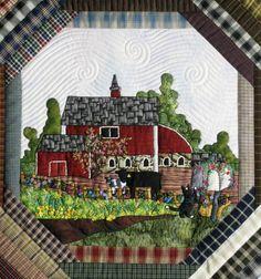 The Secret Life of Mrs. Meatloaf: Detail from Jan Z. Farm quilt