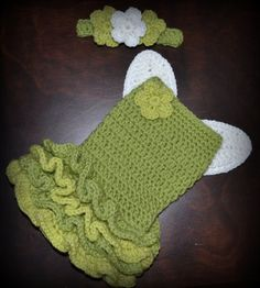Crochet Green Princess Fairy Baby Tutu Dress with Wings & Matching Headband Photo Prop Custom Made Girl Costume on Etsy, $65.00