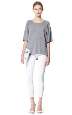 Image 1 of COATED JEANS from Zara