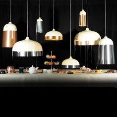 Cream and Black/Copper Pendant Lights