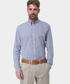 Idea regalo: Camicia in Cotone con Micro Fantasia a Quadretti Bianco, Azzurro e Nero www.privalia.com
