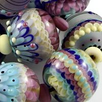 A different artist, but still gorgeous beads; Magma Beads Coral Reef Handmade Lampwork Beads | eBay