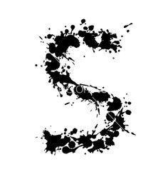 Alphabet ink s vector 132355 - by -Aqua- on VectorStock®
