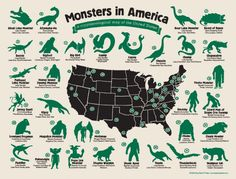 Monsters in America: a cryptozoological map of theUSA