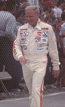 Cale Yarborough...1976, 1977, and 1978   NASCAR Winston Cup Series Champion 1984 IROC Champion....Also NASCAR HOF