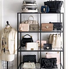 Bag display #goals #interiorinspo #bags