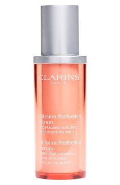 CLARINS Mission Perfection Serum launched for Summer 2015. Targets uneven skin tone. Je l'ai essayé en échantillon et la texture est sublime !