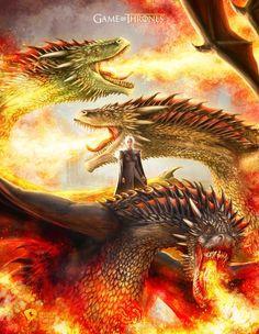 Mother of Dragons, Rocio Mariana López on ArtStation at https://www.artstation.com/artwork/yeokO