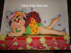 Catia Artes Manuais: PASSO A PASSO DA PINTURA EM TECIDO JOANINHA BAILARINA