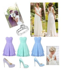 """Summer Wedding"" by miahadams ❤ liked on Polyvore featuring Gianvito Rossi, Casadei and Brian Atwood"