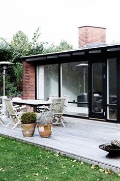 Seaofgirasoles: Interior: house in Denmark Hot House, Backyard Retreat, My Dream Home, Interior And Exterior, Deco, Outdoor Living, Brick, New Homes, House Design