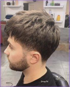 Perm Hair Men, Mc Hair, Dyed Hair Men, Mens Haircuts Short Hair, Low Fade Haircut, Permed Hairstyles, Medium Hair Cuts, Medium Hair Styles, Crew Cut Hair